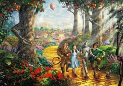 Follow the Yellow Brick Road _ Thomas Kinkade