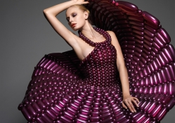 Magenta Balloon Dress