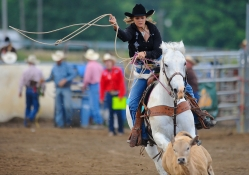 Roping Cowgirl