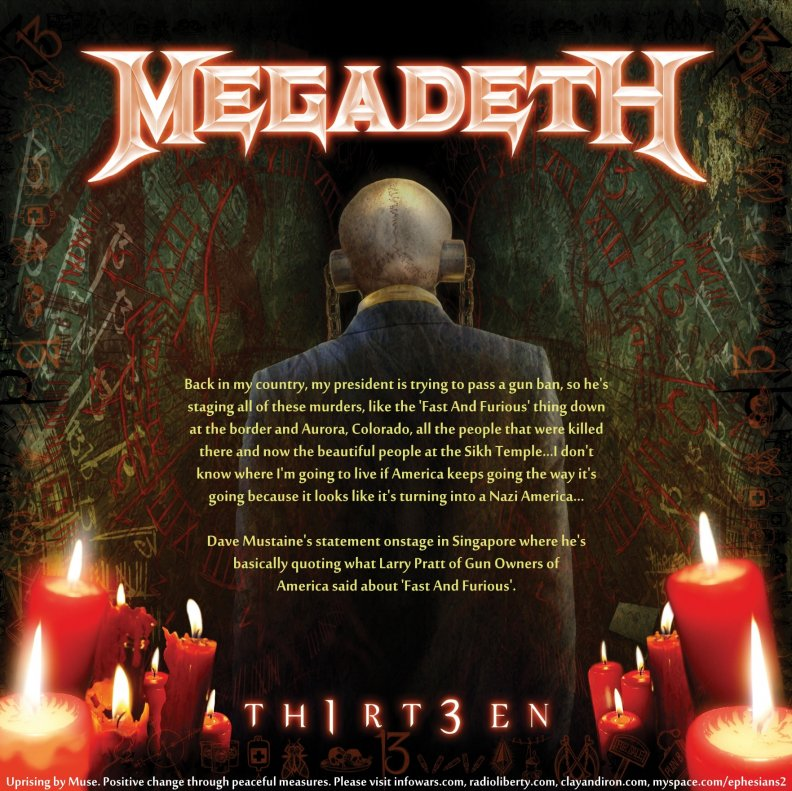 Megadeth 13 and Dave Mustaine Quote