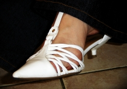 White Kitten Heel