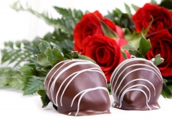 Chocolate strawberries and red roses for my sweet friend Anne (Talana)