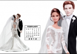 Barbie Desktop Calendar Feb 12