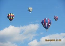 Hot Air Balloons On A Beautiful Day