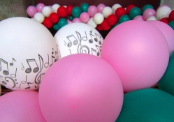 Concert decorative balloons