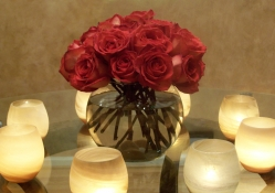 Candles Light and Roses