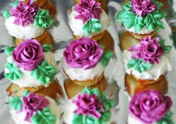 Purple Rose cupcakes for charismatic