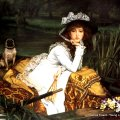 James Tissot _ Young Lady in a boat
