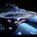 Star Trek 1701D Leaving Space Dock