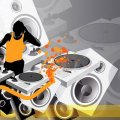 DJ Music Vector Art