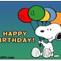 birthday greetings from snoopy