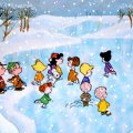 charlie brown and friends ice skating