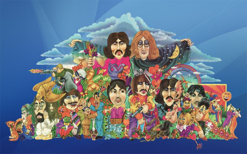 Psychedelic art beatles
