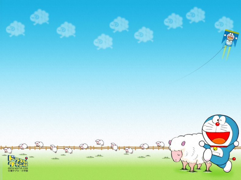doraemon_with_a_flock_of_sheep.jpg