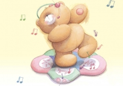 music bear wallpaper 1034x768 jpg