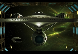 Enterprise In Space Dock