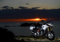 Aprilia at sunset