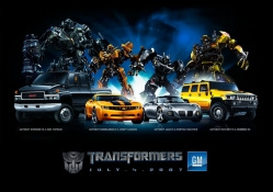 Transformers characters and cars