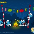 Smurfs Party Wallpaper