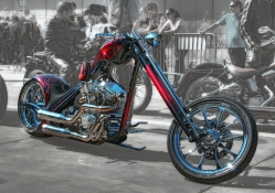 Custom Harley Davidson Chopper Abstract