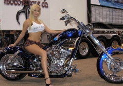 Curvy Blonde Chopper Rider