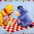 winnie and eeyore picnic wallpaper