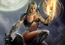 Witchblade with Flaming Hand
