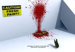 Caution Fresh Paint