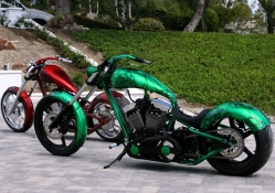 Custom Choppers Green_Red