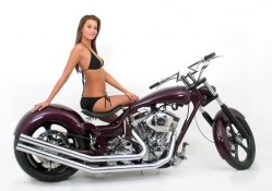 Bike Purple With Hot Model
