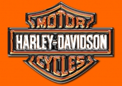 Glass Harley orange