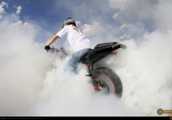 Motorcycles Stunt Fire by duke