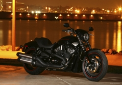 Harley Davidson At Night