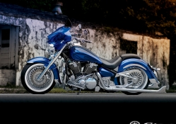 Custom Blue Bike