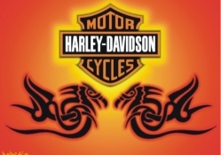 Harley_Davidson dragon orange