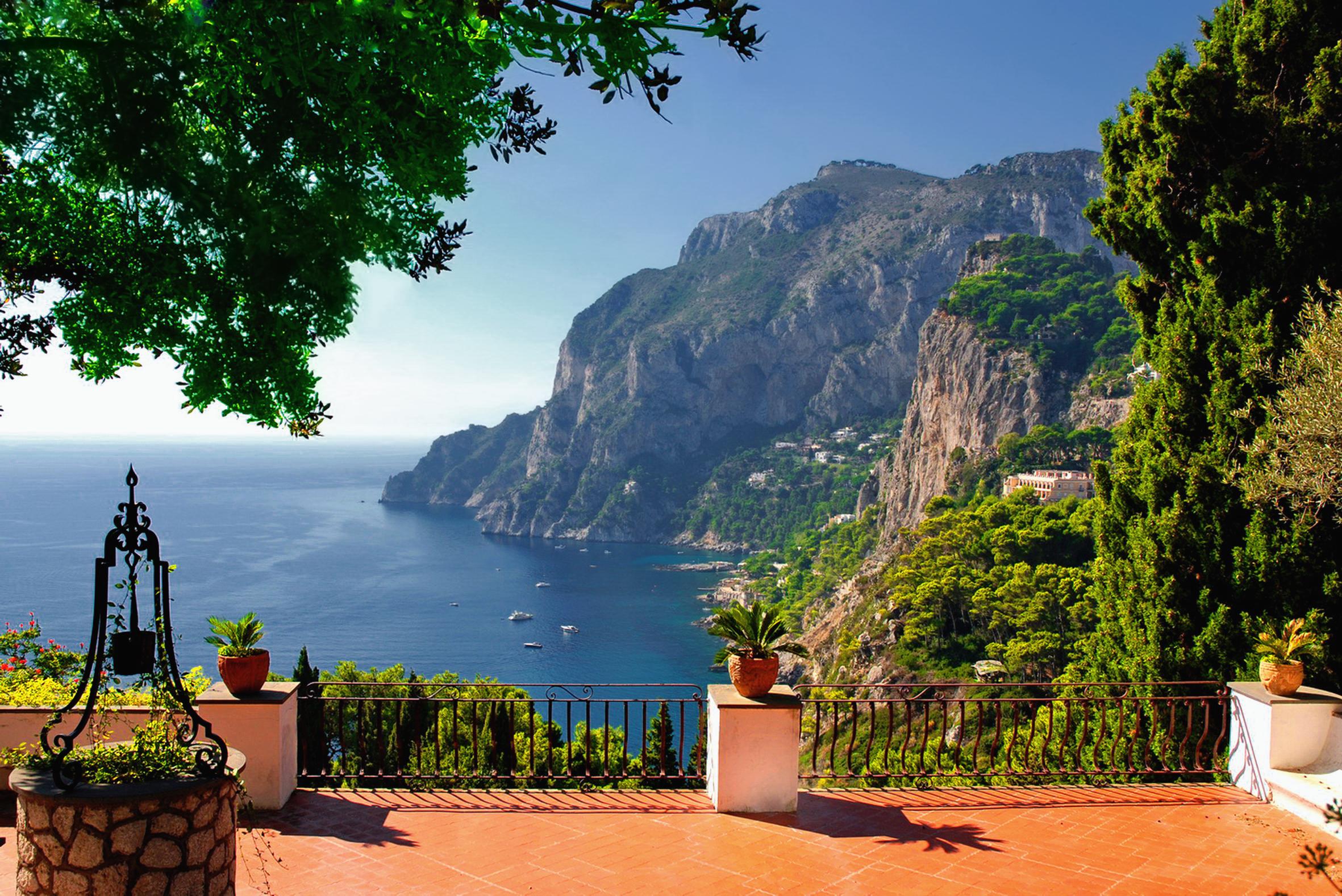 Фотообои вид на море и горы 1626 купить в интернет-магазине .