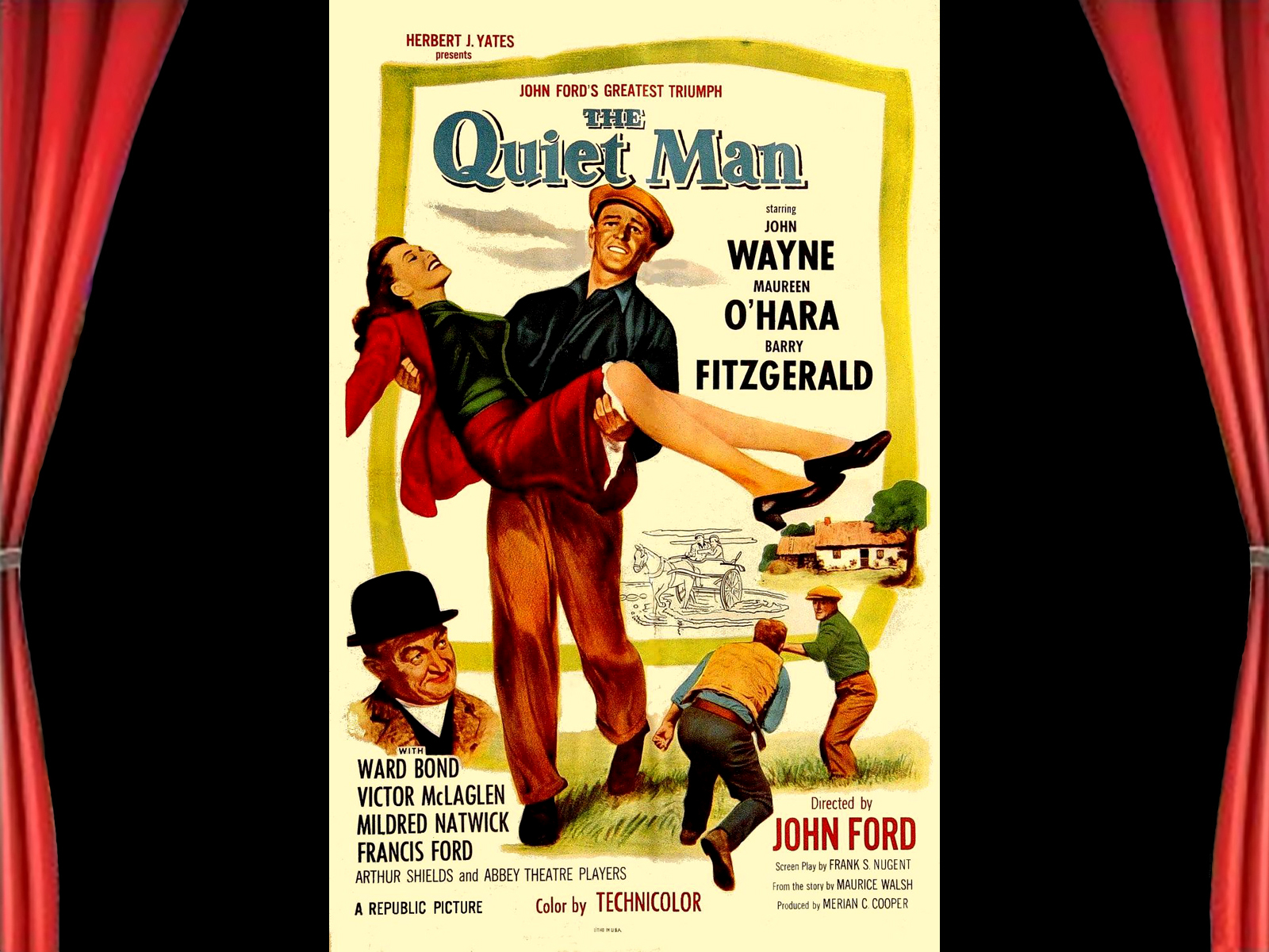 The quiet man original movie poster